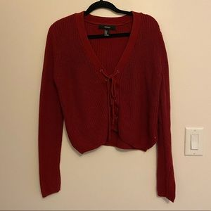 Forever 21 long sleeve cropped sweater